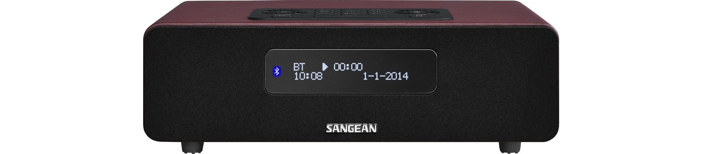 Sangean digitales Tischradio (DAB+/UKW, Bluetooth, Dual-Alarm, AUX-In) »DDR-36 rot«