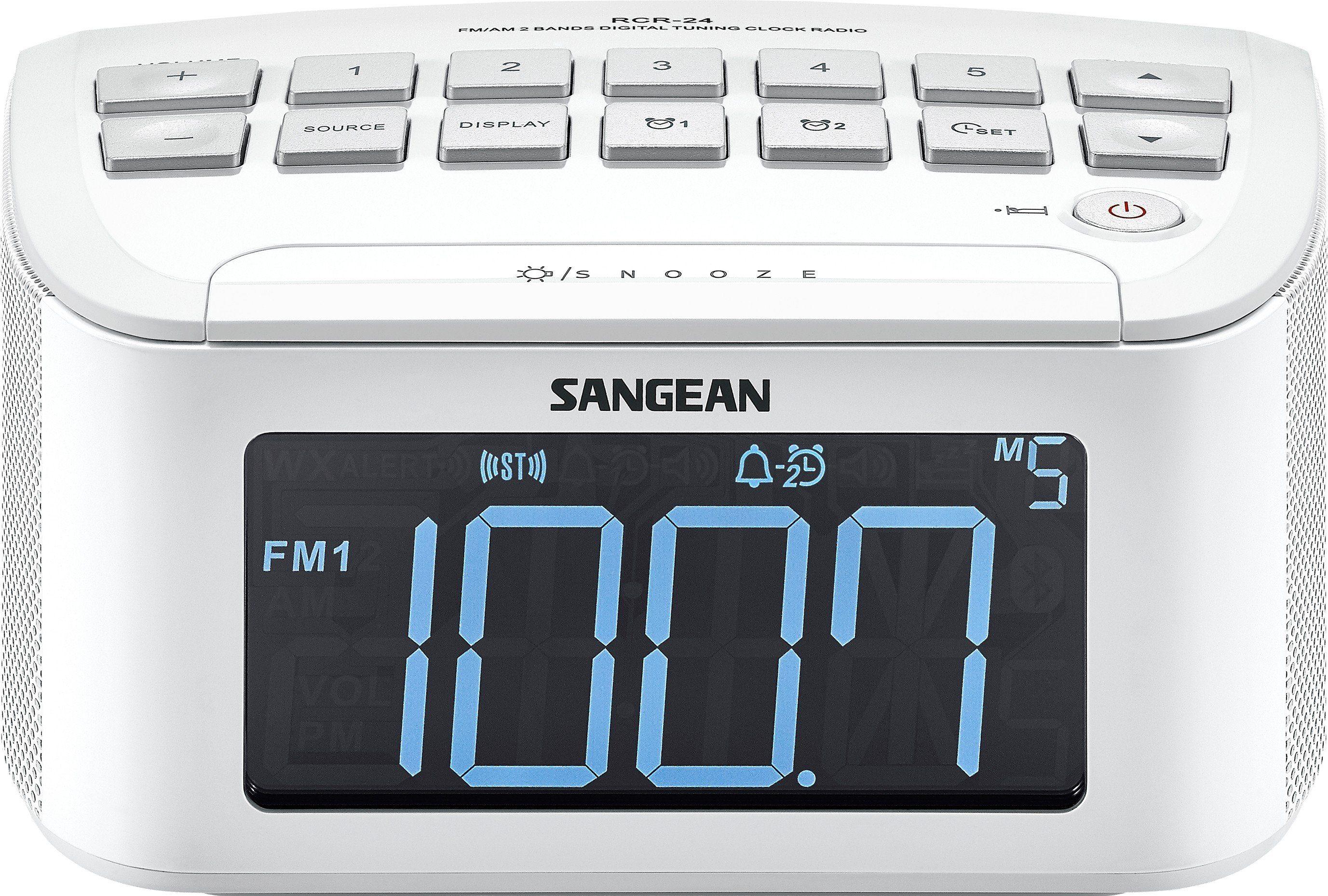 Sangean Uhrenradio (UKW/MW, Dual-Alarm, AUX-In) »RCR-24«