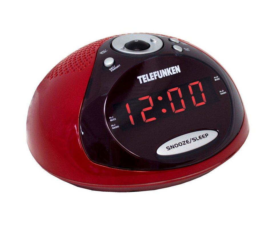 Telefunken Radiowecker »R1005 rot« in Rot