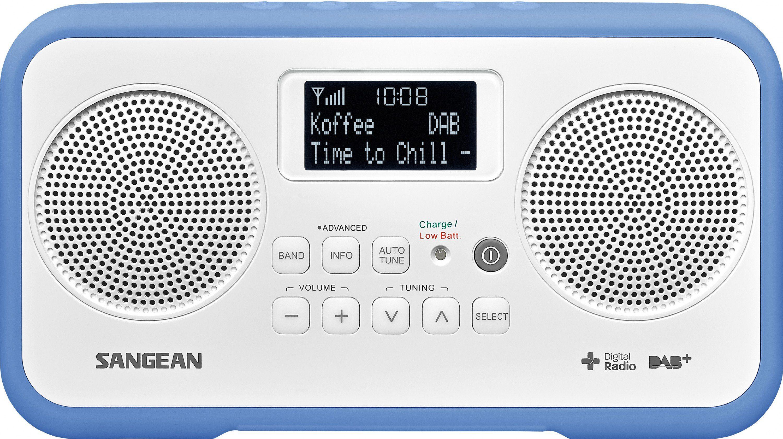 Sangean Stereo-Digitalradio (DAB+/UKW) »DPR-77 weiß/blau«