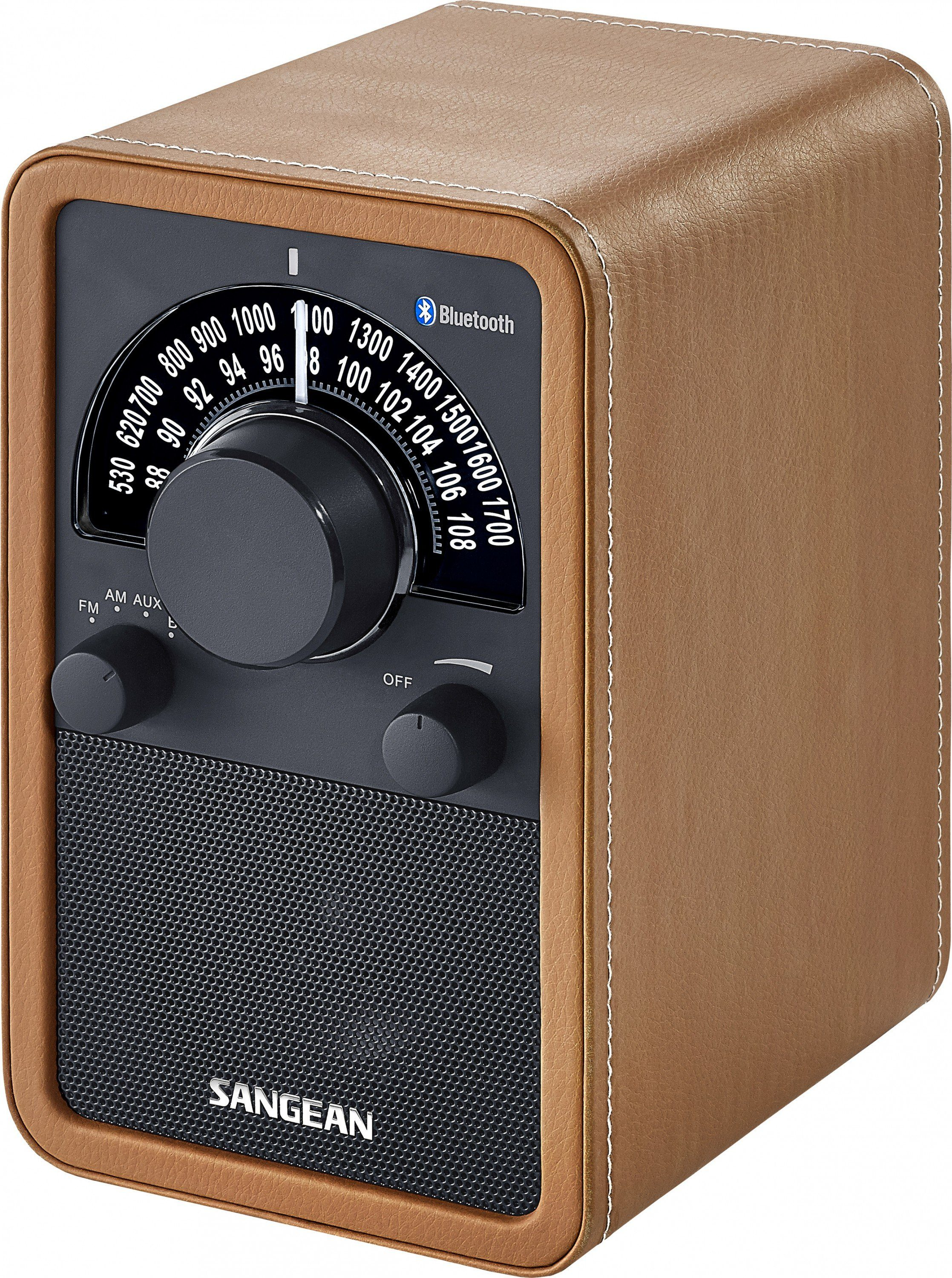 Sangean Bluetooth-Radio (NFC, UKW/MW, AUX-In)Bluetooth-Radio (NFC, »WR-15BT braun«