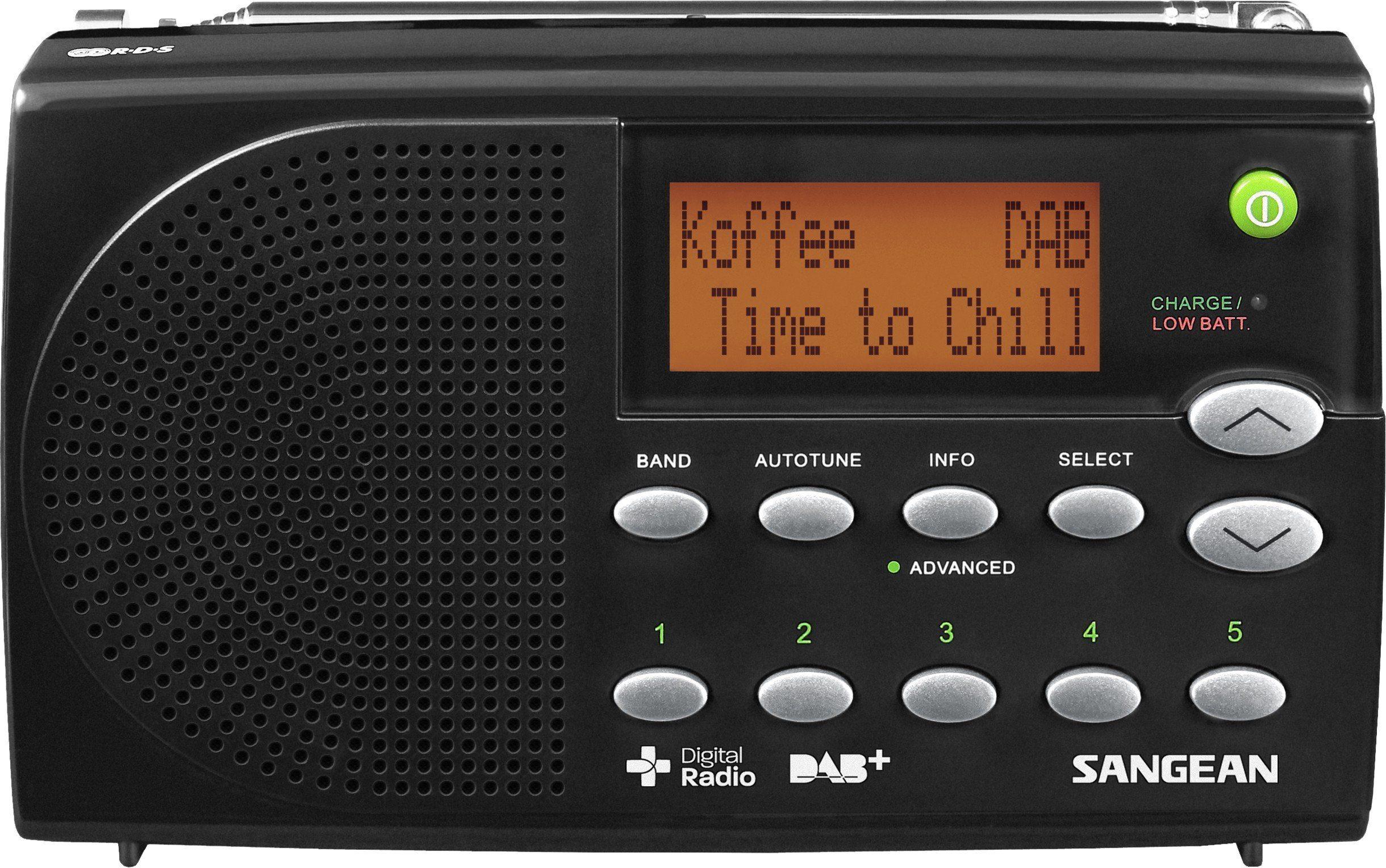 Sangean tragbares Digitalradio (DAB+/UKW) »DPR-65 schwarz«