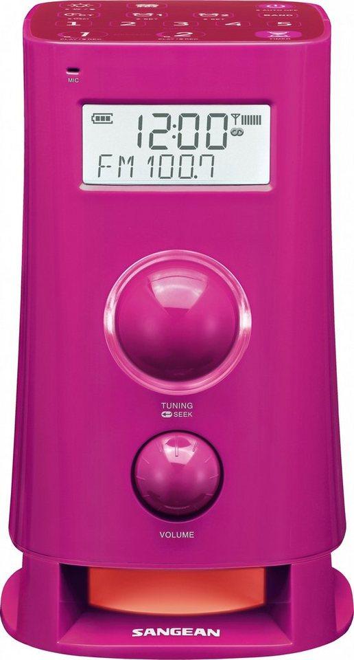 Sangean Alarm-Radio (UKW/MW, Dual-Alarm, Backtimer) »K-200 pink« in Pink