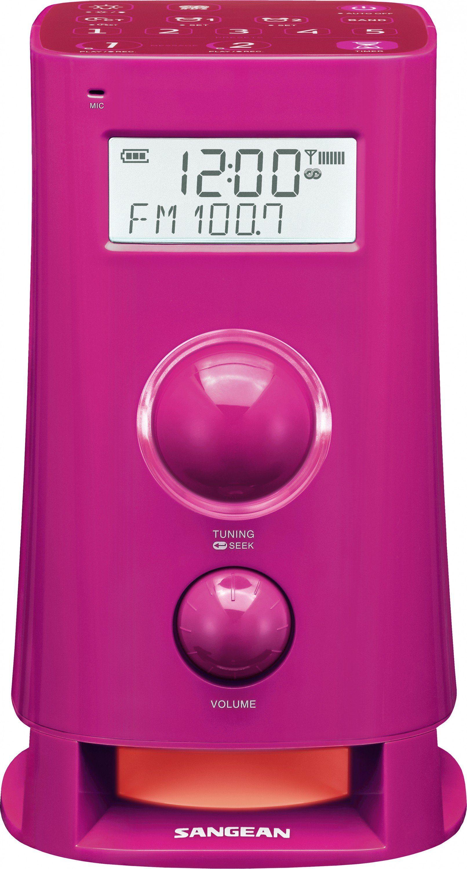 Sangean Alarm-Radio (UKW/MW, Dual-Alarm, Backtimer) »K-200 pink«