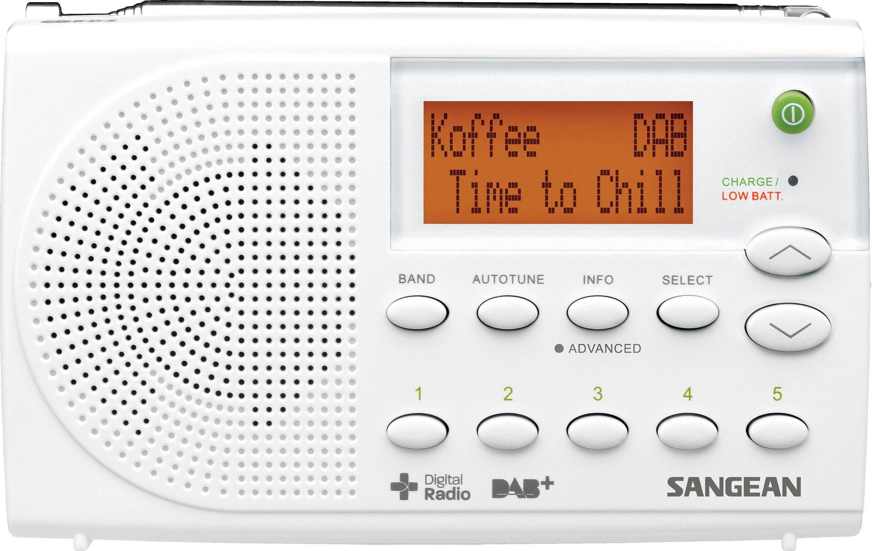 Sangean tragbares Digitalradio (DAB+/UKW) »DPR-65 weiß«