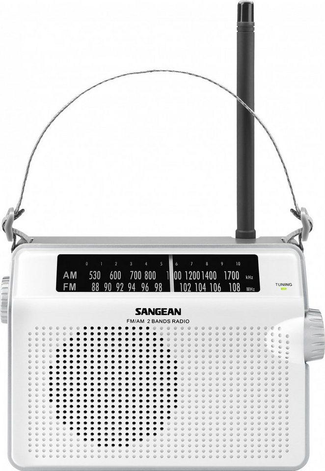 Sangean tragbares Radio (UKW/MW) »PR-D6 weiß« in Weiß