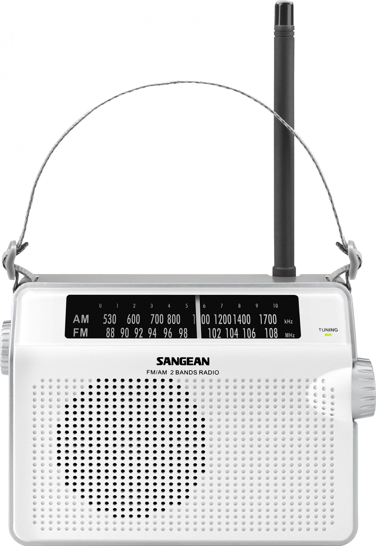 Sangean tragbares Radio (UKW/MW) »PR-D6 weiß«