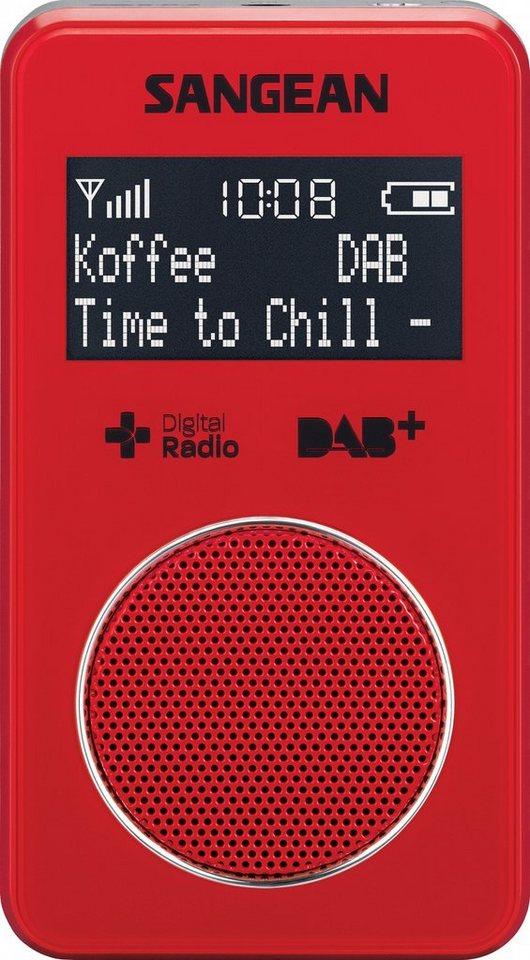 Sangean kompaktes Taschenradio (DAB+/UKW, inkl. Kopfhörer) »DPR-34+ rot« in Rot