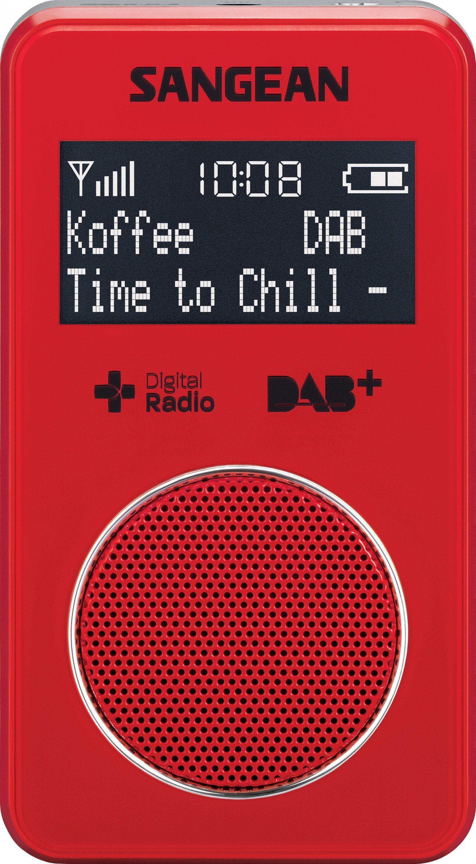 Sangean kompaktes Taschenradio (DAB+/UKW, inkl. Kopfhörer) »DPR-34+ rot«