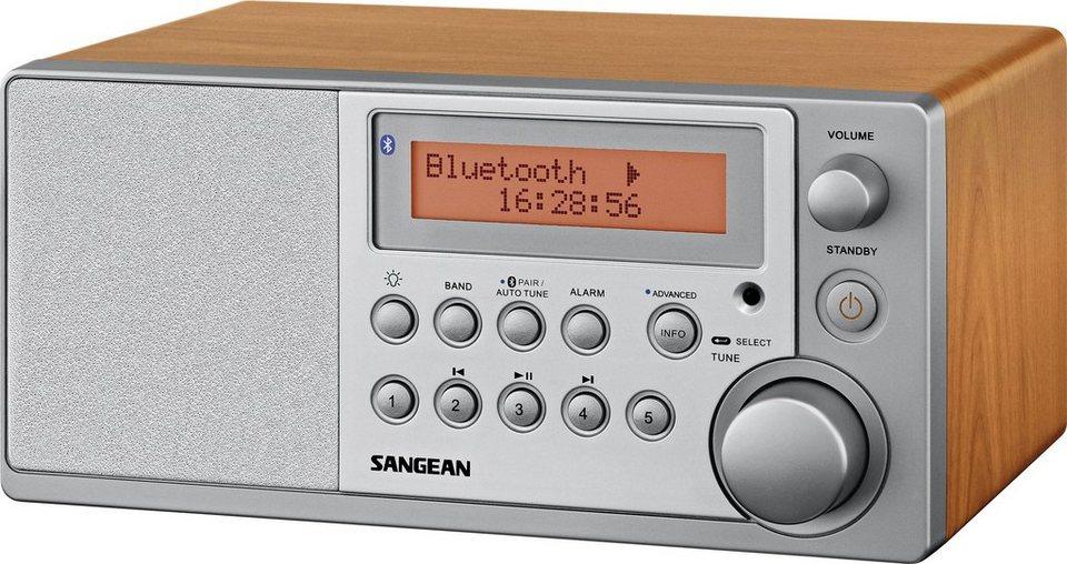 Sangean Tischradio in elegantem Holzgehäuse (DAB+/UKW, Bluetooth, »DDR-31 BT« in Braun