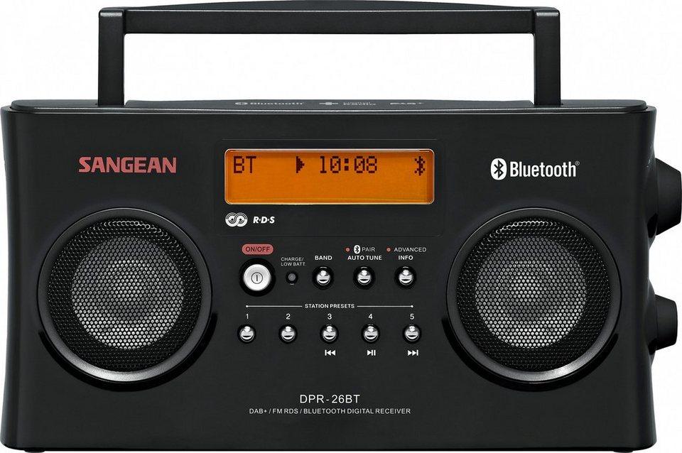 Sangean Stereo-Digitalradio (DAB+/UKW, Bluetooth, AUX-In) »DPR-26BT schwarz« in Schwarz