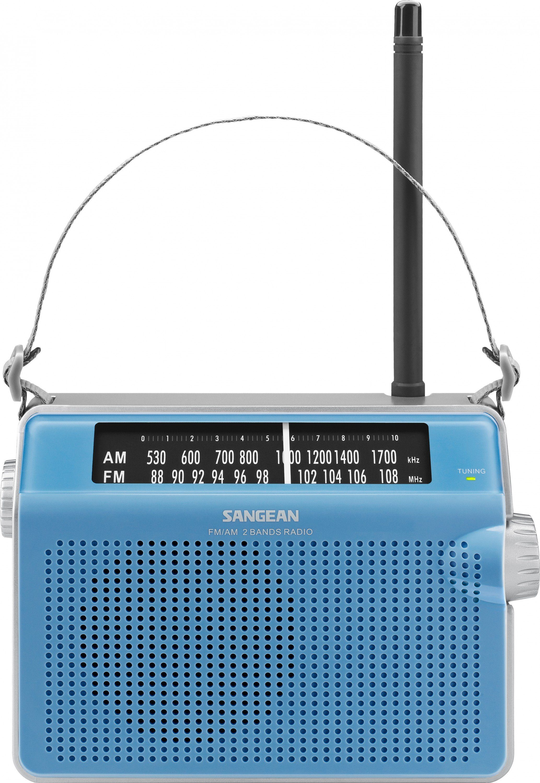 Sangean tragbares Radio (UKW/MW) »PR-D6 blau«
