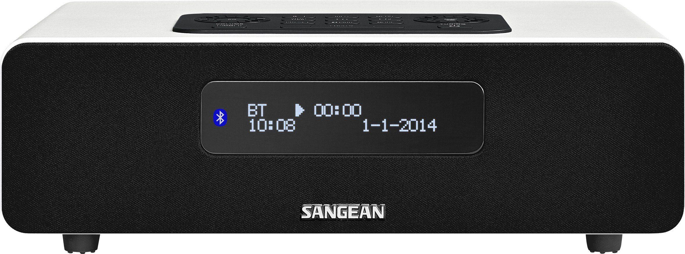 Sangean digitales Tischradio (DAB+/UKW, Bluetooth, Dual-Alarm, AUX-In) »DDR-36 weiß«