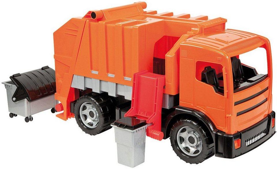 LENA® Spielfahrzeug, »Starke Riesen Müllwagen« in orange