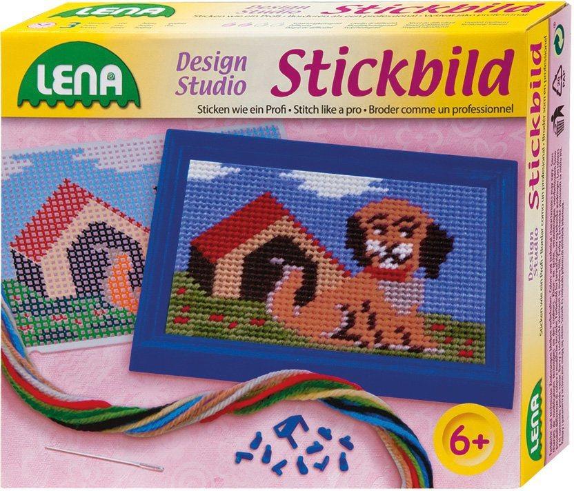 LENA® Stickset mit Rahmen, »Stickbild Hund«