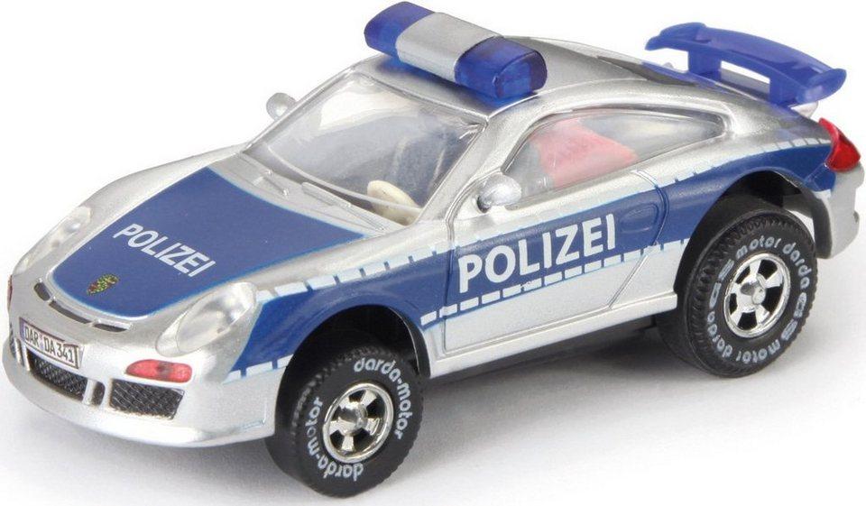 DARDA® Spielfahrzeug, »Porsche 911 GT 3 Polizei« in silberfarben/blau