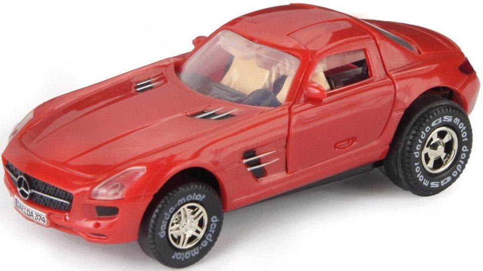 DARDA® Spielfahrzeug, »Mercedes Benz SLS AMG« in rot
