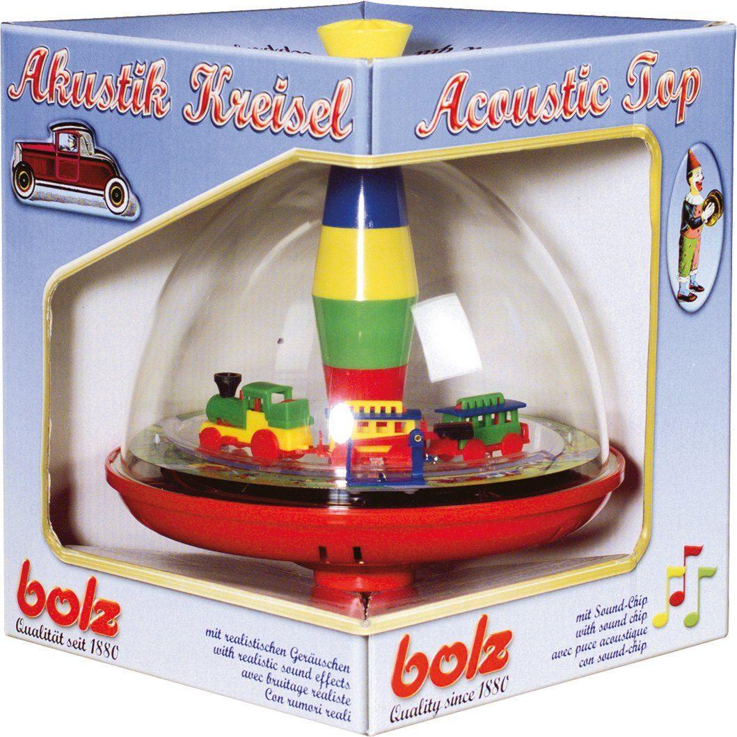 BOLZ® Elektrischer Spielkreisel, »Panoramakreisel Eisenbahn mit Chip«