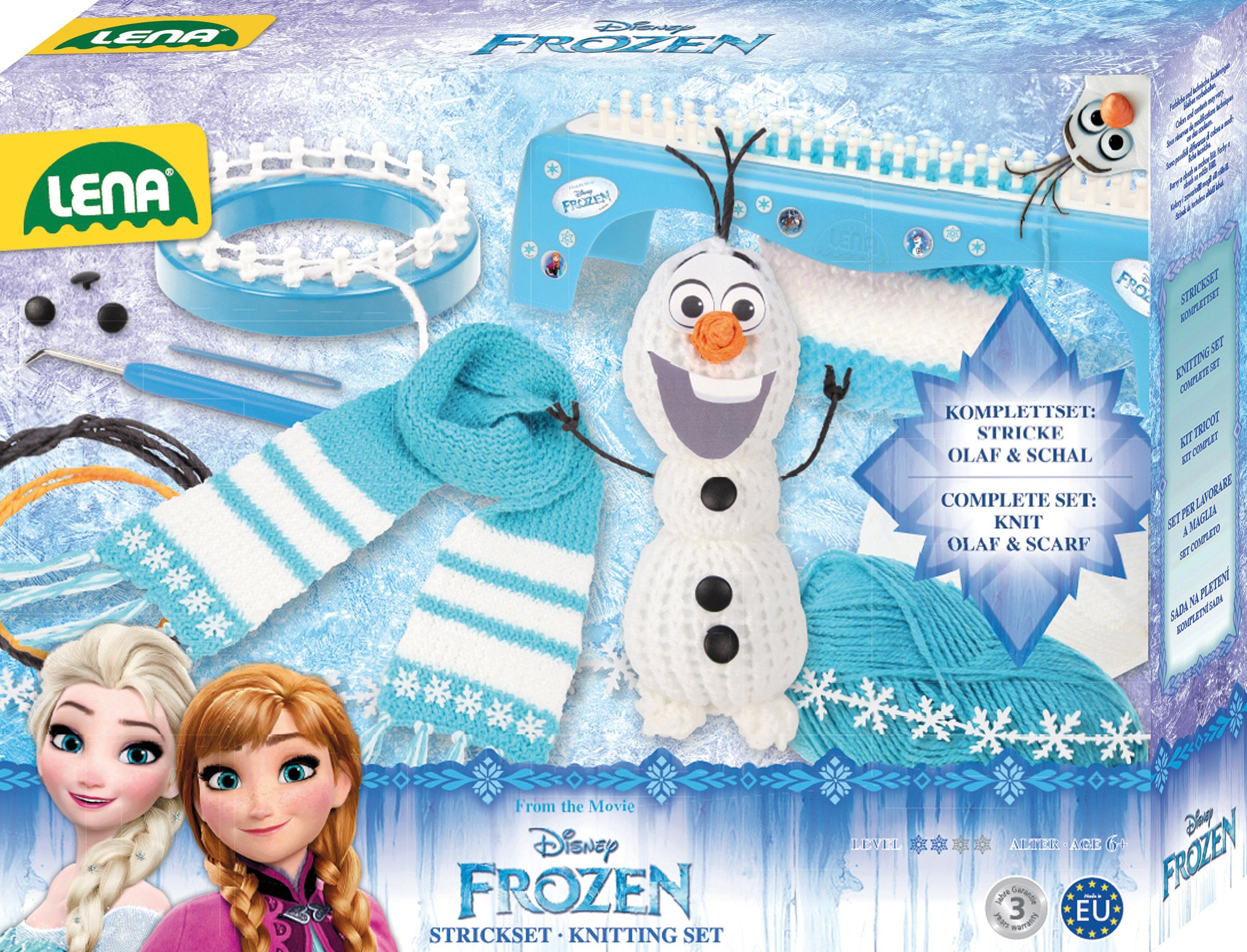 LENA® Handarbeitsset, »Disney Frozen,Strickset 2in1«