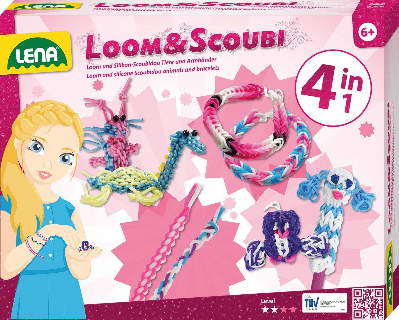 LENA® Bastelset, »Loom und Scoubidou 4in1«