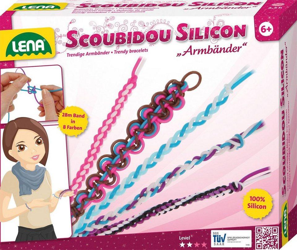 LENA® Kreativset, »Scoubidou Silicon Armbänder«