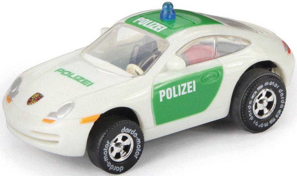 DARDA® Spielfahrzeug, »Porsche Polizei« in weiß/grün