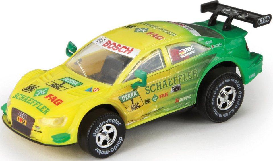 DARDA® Spielfahrzeug, »DTM Audi RS5 Rockenfeller« in gelb/grün