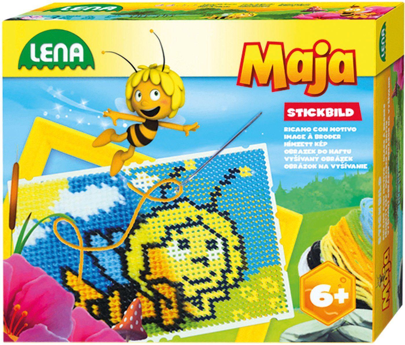 LENA® Stickset mit Rahmen, »Stickbild Maja«