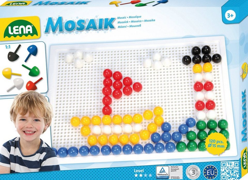 LENA® Steckset, »Mosaik Color 15 mm«