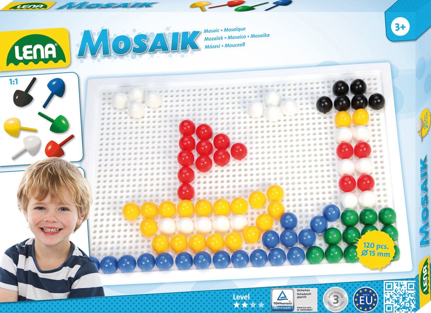 LENA® Steckset, »Mosaik Color 15 mm«