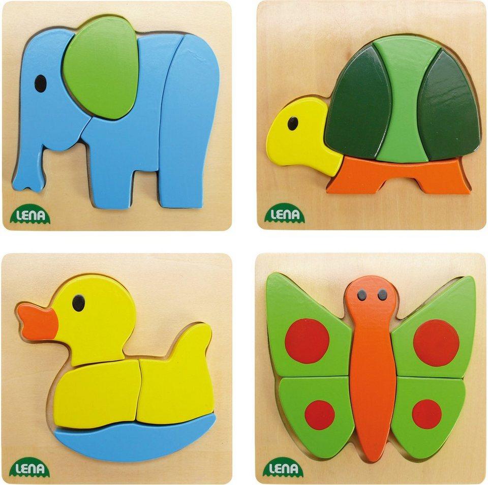 LENA® Puzzle, »Holzpuzzle Tiere«