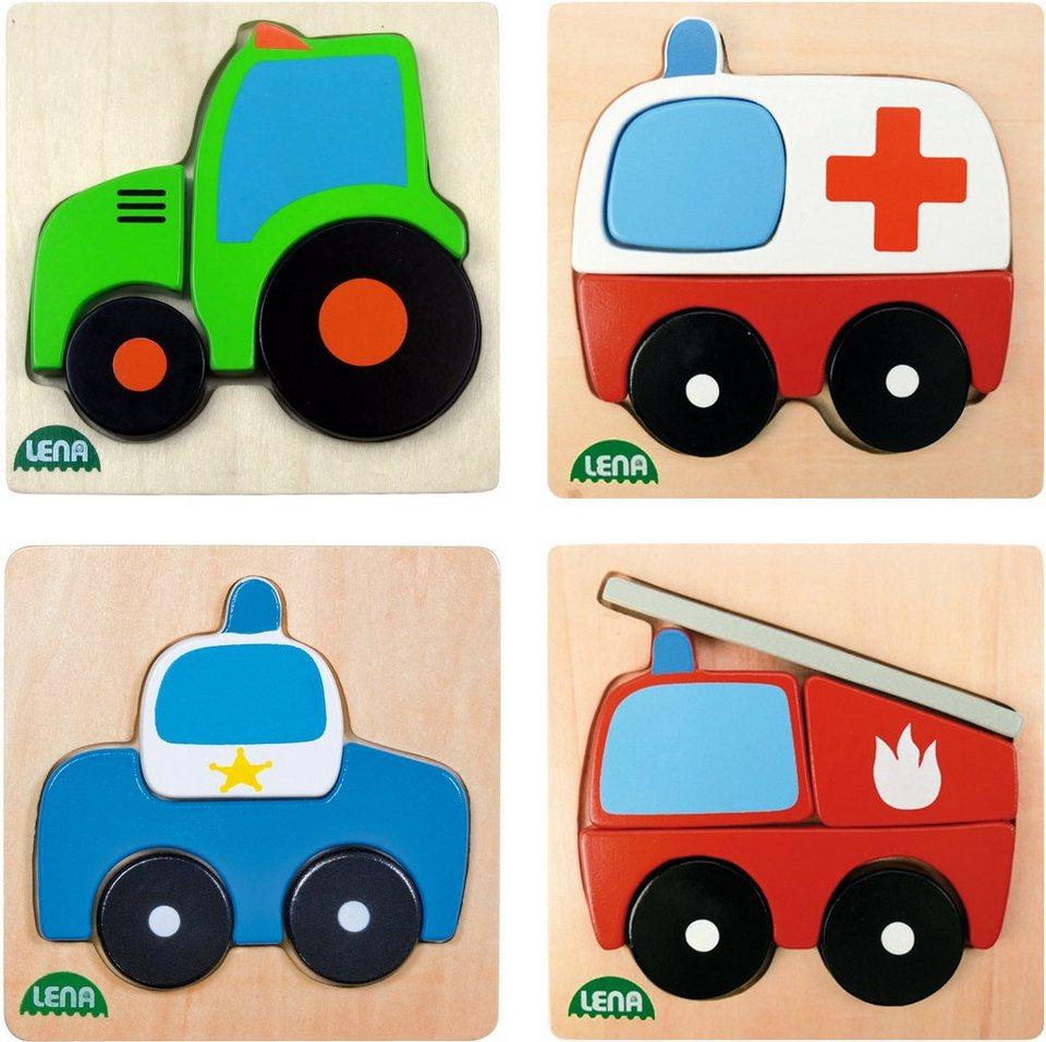 LENA® Puzzle, »Holzpuzzle Fahrzeuge«
