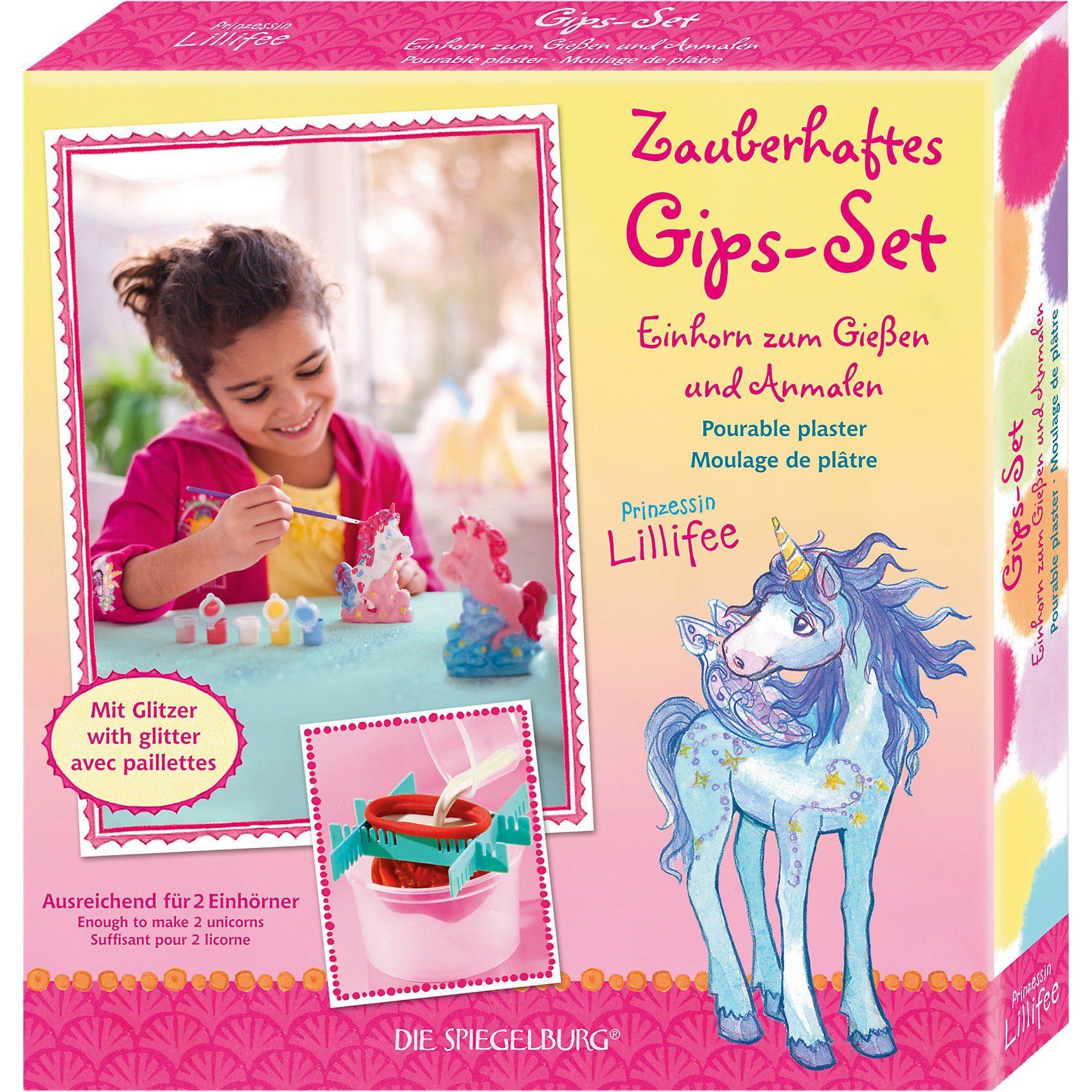 Spiegelburg Gips-Set Einhorn zum Gießen & Anmalen mit Glitzer Prinzessin