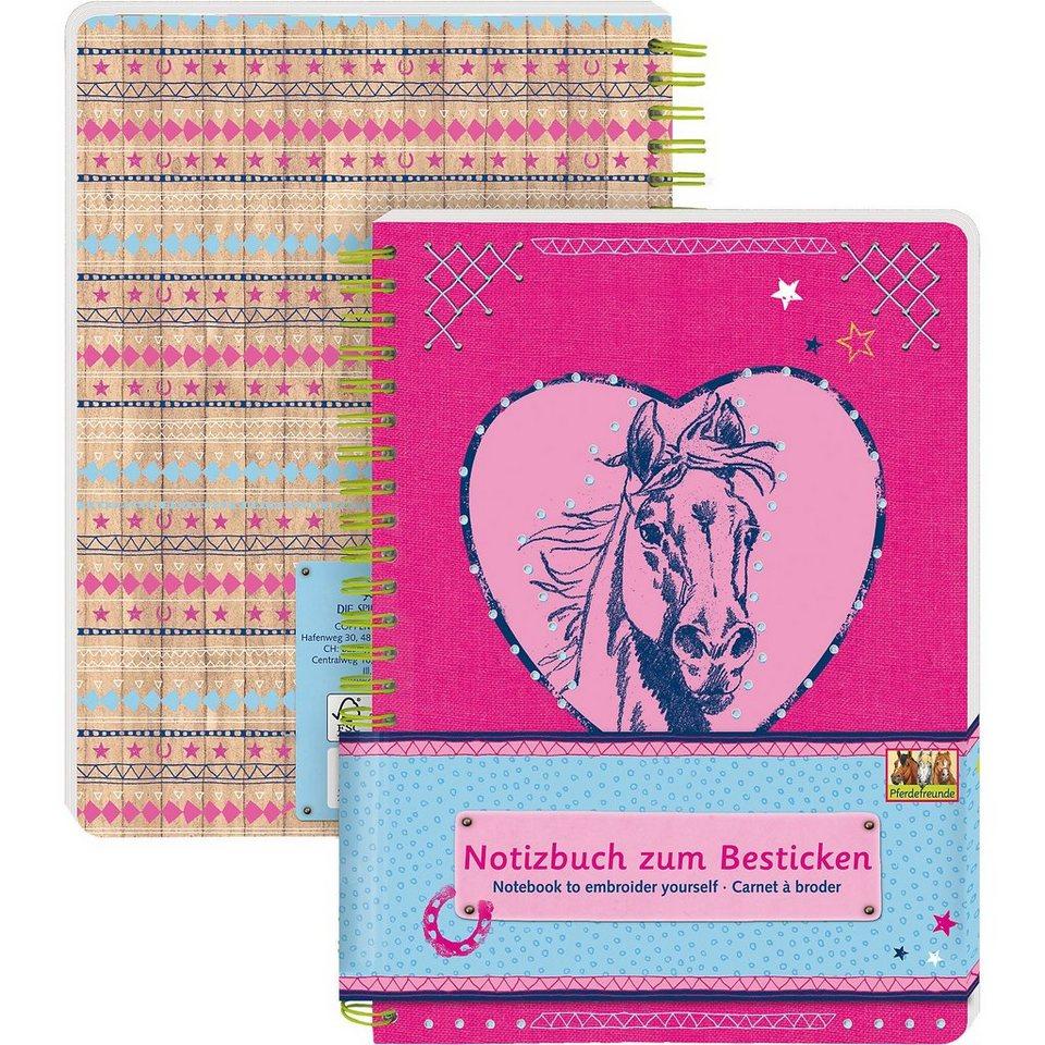 Spiegelburg Notizbuch zum Besticken Pferdefreunde