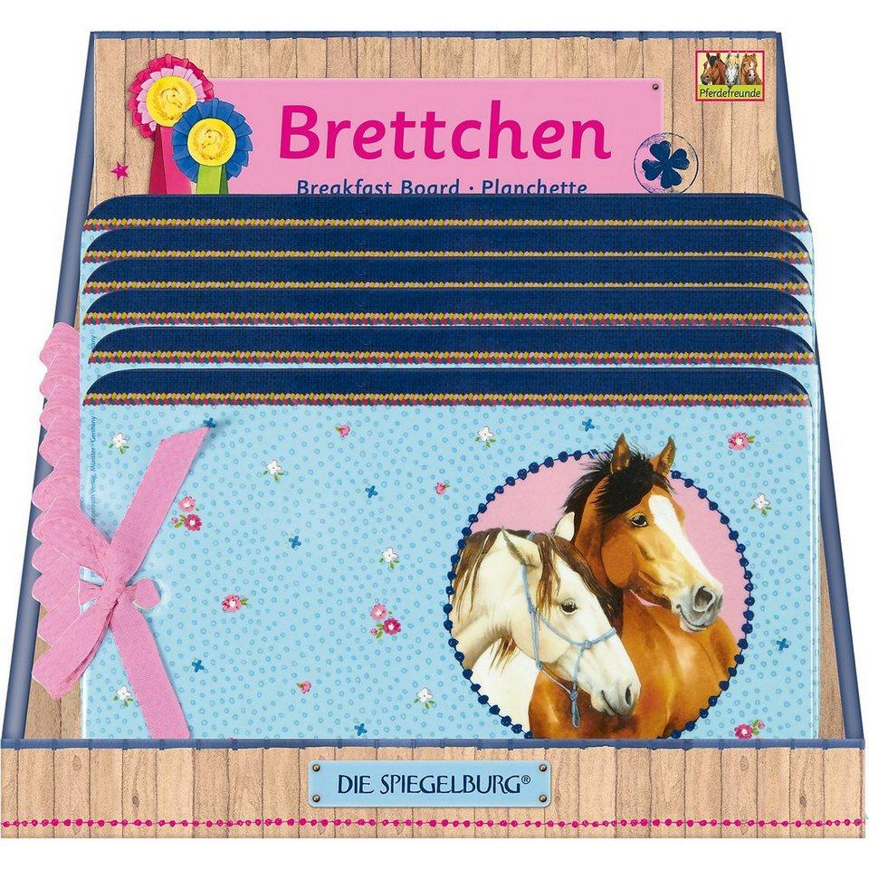 Spiegelburg Melamin-Frühstücksbrettchen Pferdefreunde