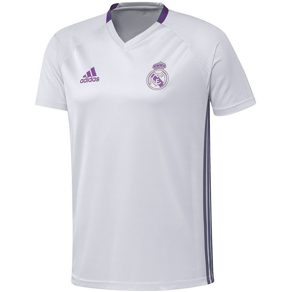 adidas Performance Real Madrid Trainingsshirt in weiss