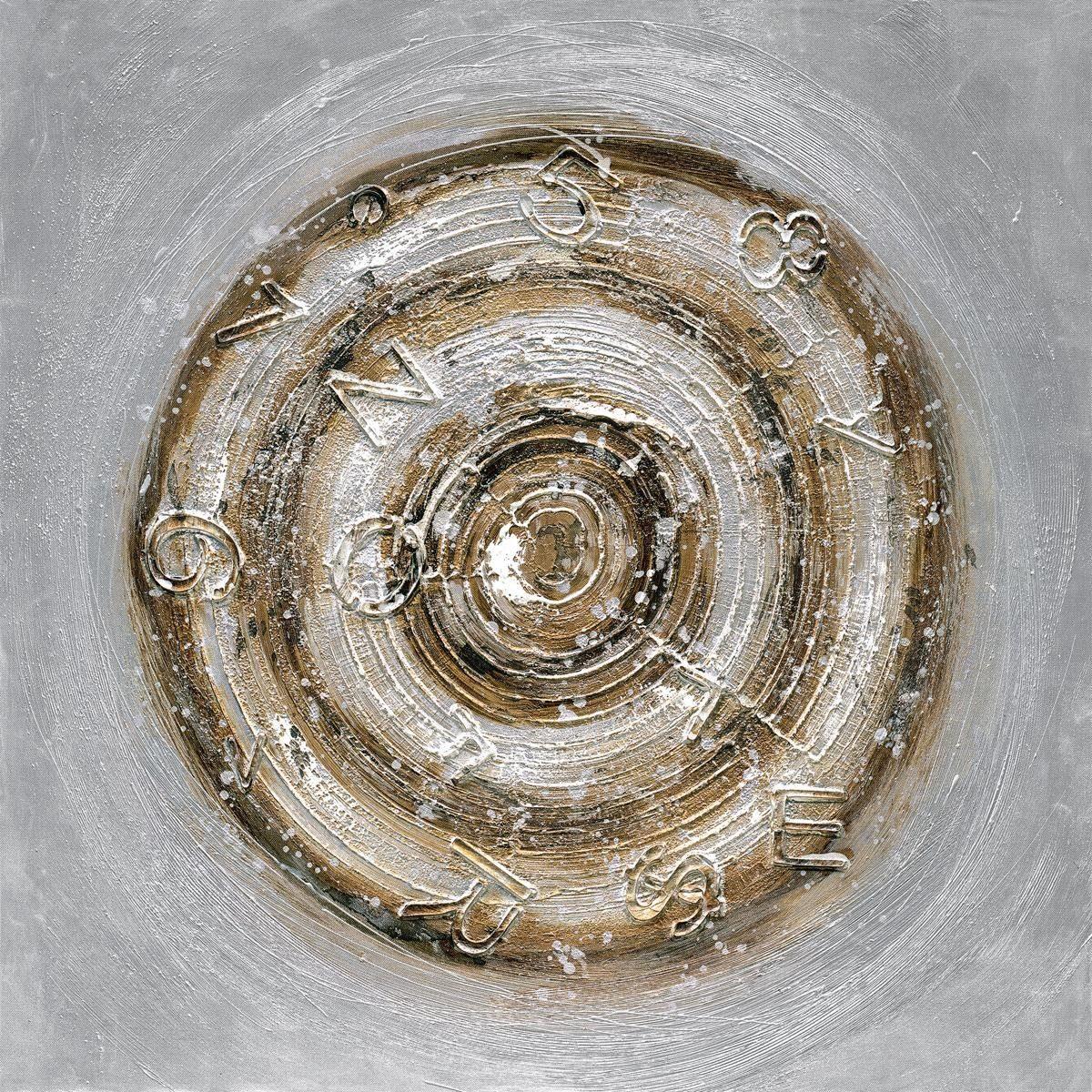 Eurographics Handgemaltes Ölgemälde »Circle«, 80/80 cm