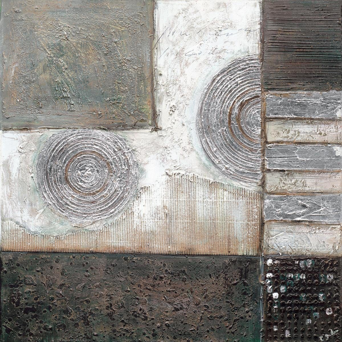 EUROGRAPHICS Handgemaltes Ölgemälde »Silver Lines«, 80/80 cm