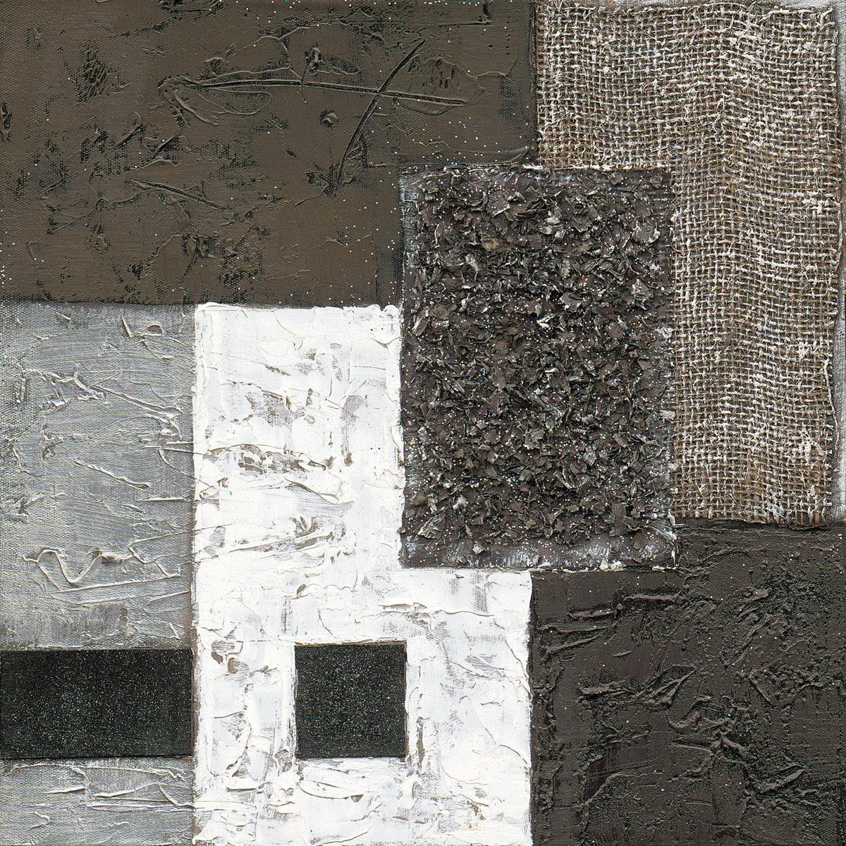 Eurographics Handgemaltes Ölgemälde »Black Meets White II«, 40/40 cm