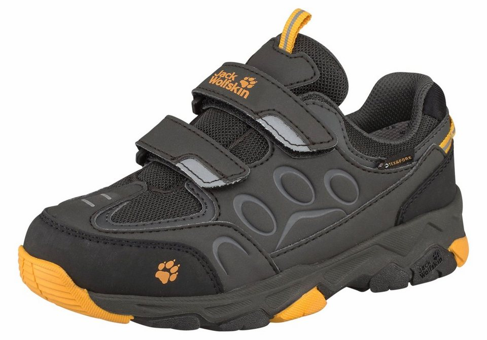 Jack Wolfskin »Mountain Attack 2 Texapore Low Velcro Kids« Outdoorschuh in schwarz-gelb