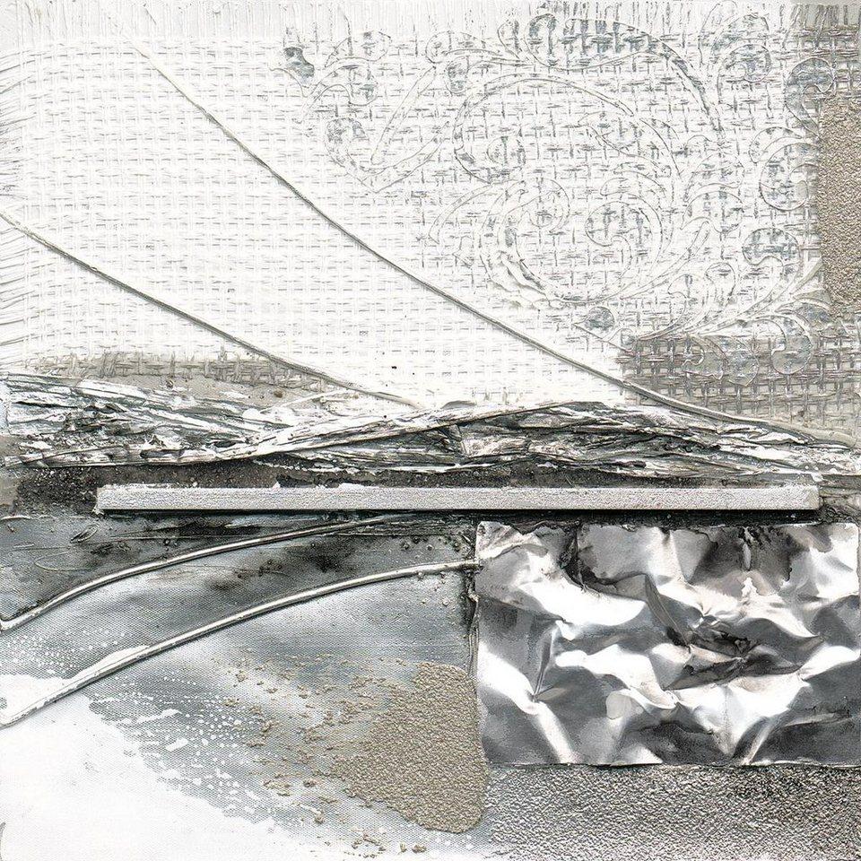 Eurographics Handgemaltes Ölgemälde »A Storms Wings I«, 40/40 cm in grau