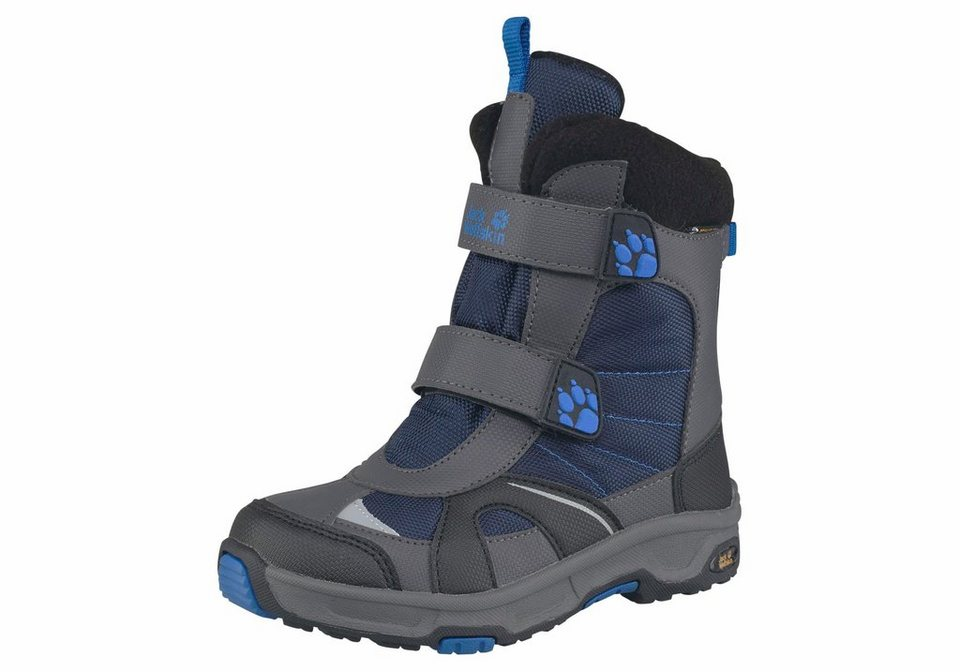 Jack Wolfskin »Boys Polar Bear Texapore« Winterstiefel in grau-blau