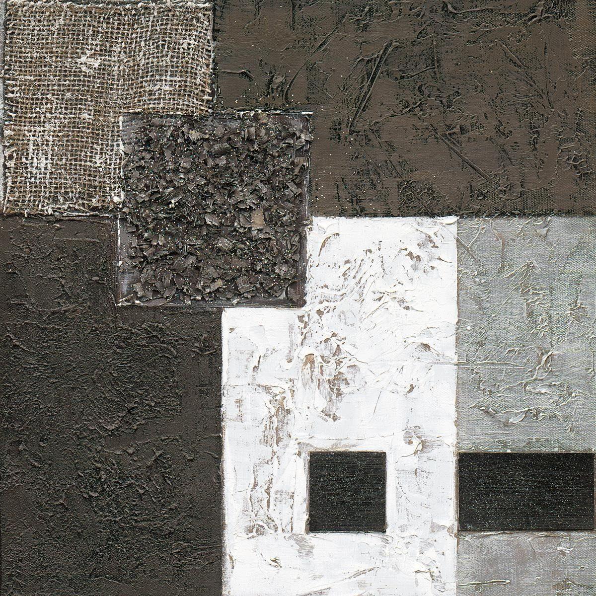 EUROGRAPHICS Handgemaltes Ölgemälde »Black Meets White«, 40/40 cm