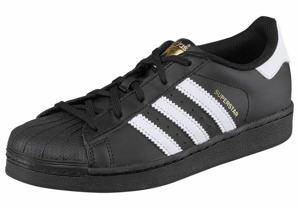 adidas Originals Superstar J Sneaker in Schwarz