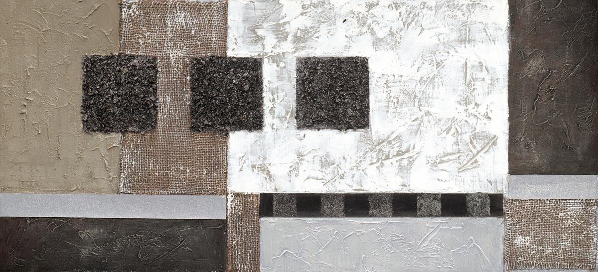 EUROGRAPHICS Handgemaltes Ölgemälde »Black And White Shadows«, 110/50 cm