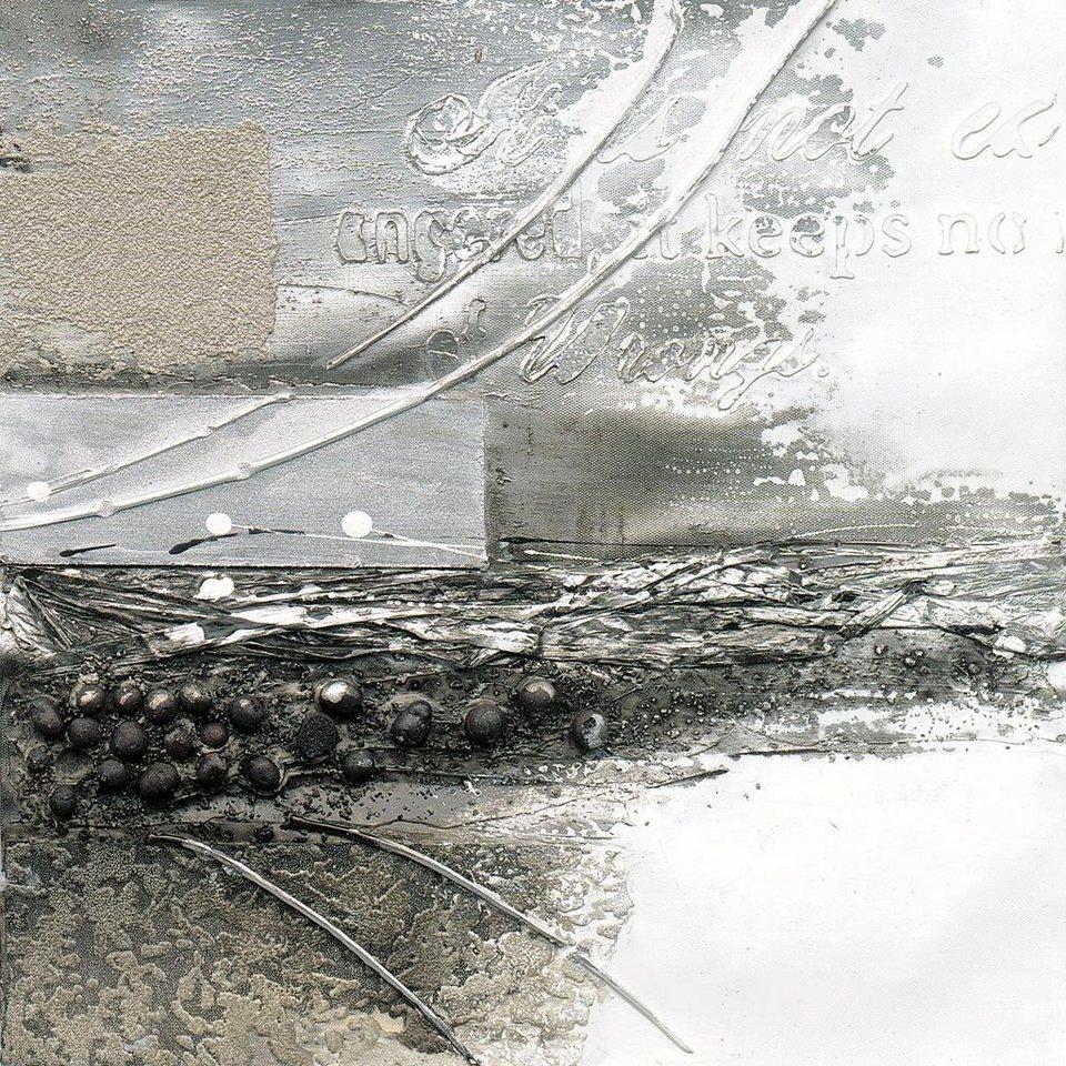Eurographics Handgemaltes Ölgemälde »A Storms Wings II«, 40/40 cm in grau