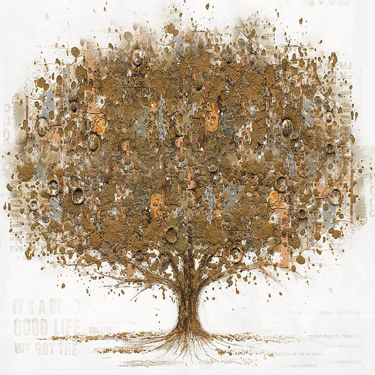 EUROGRAPHICS Handgemaltes Ölgemälde »Tree Of Singing Angels I«, 80/80 cm