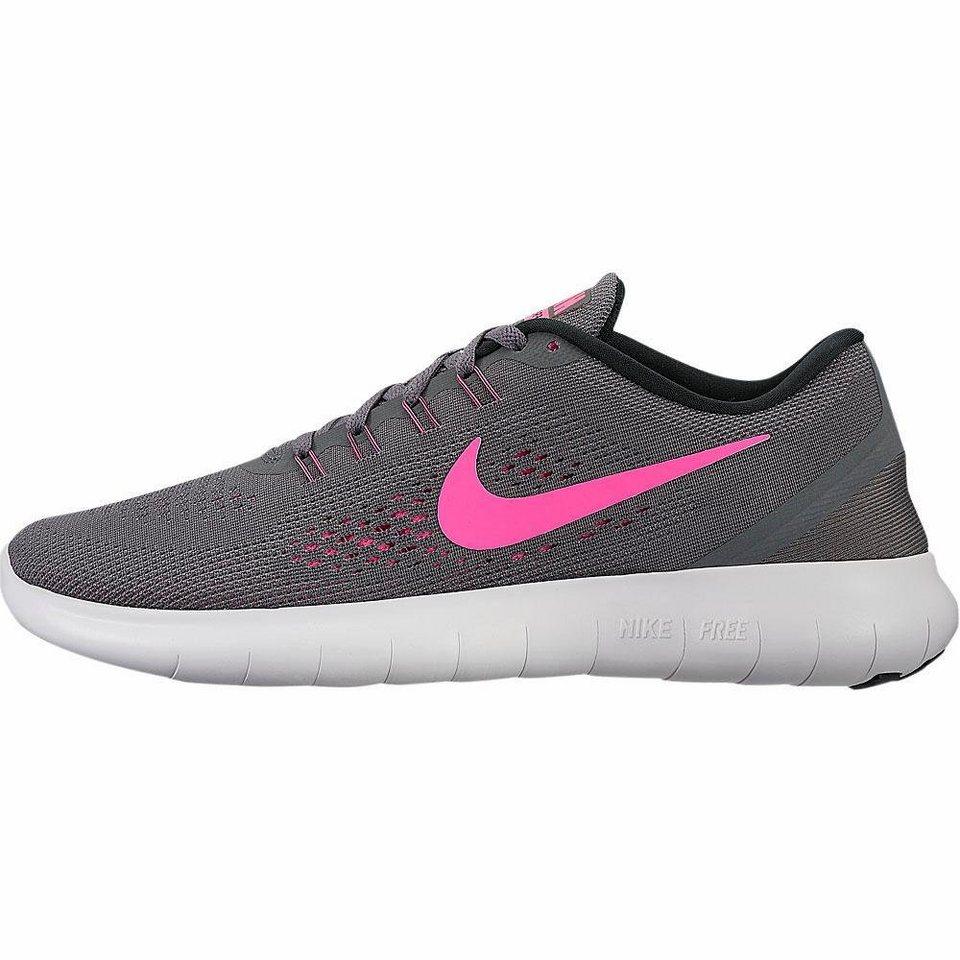Nike »Free Run Wmns« Laufschuh in anthrazit-neonpink