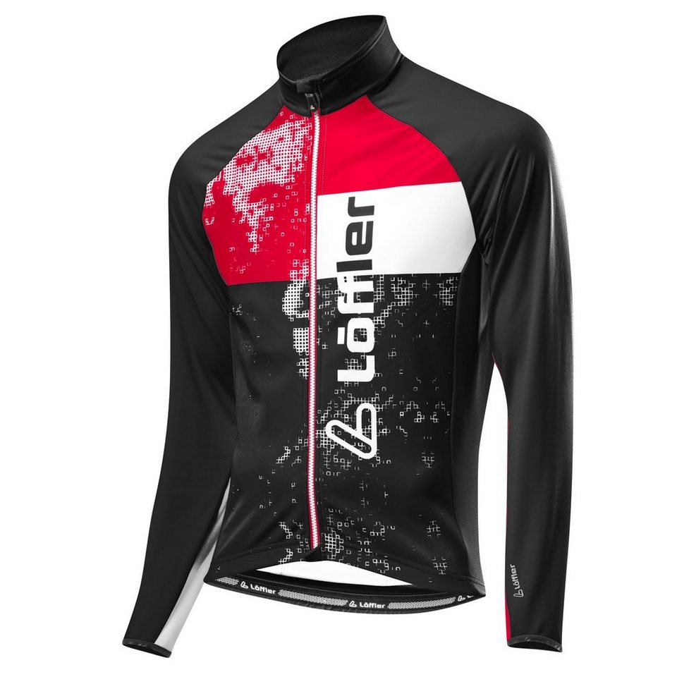 Löffler Radtrikot »Styles Bike Langarmtrikot FZ Herren« in schwarz