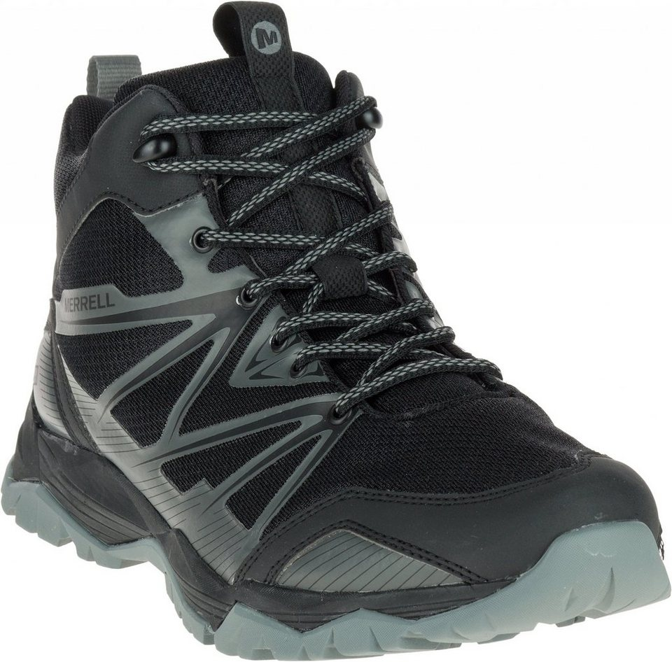Merrell Kletterschuh »Capra Rise Mid Waterproof Shoes Men« in schwarz